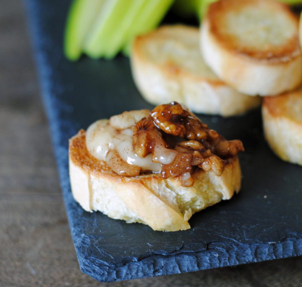 Toasted Pecan, Brie and Apple Croûtons