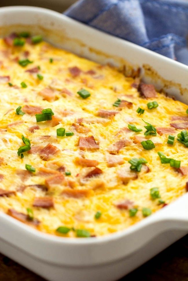 Ham Bacon Egg Tortilla Pie
