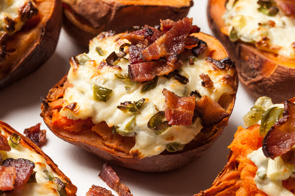 Twice-Baked Bacon Cheese Potatoes