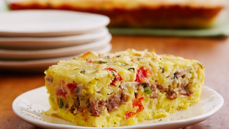 Sausage Egg Breakfast Squares