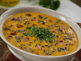 Smoked Sausage Butternut Squash and Wild Rice Soup