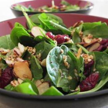 Greens Salad with Pear, Roquefort, and Crispy Chestnuts